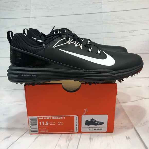 best service 59298 24c4a Mens 11.5 Nike Golf Lunar Command 2 Black